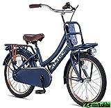 Mädchenrad Transportfahrrad Jeans blau 20 Zoll