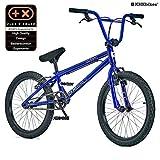 KHE BMX Cosmic B 20 Zoll Fahrrad mit Affix Rotor nur 11,1kg Glanz Blau