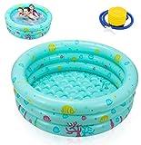Ucradle Planschbecken Babypool Kinderpool , Ø100x27cm Aufblasbarem Baby Pool Rund Schwimmbecken...