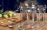 Perfect Enterprise Besteck-Set aus Stahl mit Löffel- und Folk-Ständer, 25-teilig