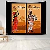 KHKJ African Tribal Woman Print Stoff Tapisserie Dekor Wandkunst Tischdecken Tagesdecke Picknick...