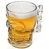 #N/V Klassischer Piraten-Partner-Becher aus Kristallglas mit Griff, 500 ml