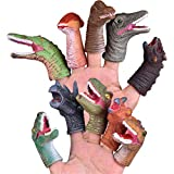 Kohyum Finger Plüschtier 10 Stück PVC Simulation Dinosaurier Fingerpuppen Mitgebsel Interaktive...