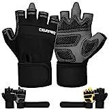 Cevapro Fitness Handschuhe Trainingshandschuhe mit Handgelenkstütze für Krafttraining Gewichtheben...