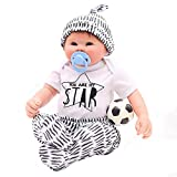 YIHANGG 50cm Realistische Reborn Puppe Handgemachte Weiche Silikon Vinyl 20 Zoll Neugeborenen...