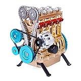 LMCLJJ Bauen Sie Ihr eigenes Internal Combustion Engine V4 Auto-Motor-Montage-Kit Modell Spielzeug...
