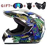 SSIK Motocross Helme Motocross Motorradhelm Downhill Fullface Helm - Yema YM-211 Cross DH Enduro...