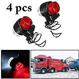 Justdolife LED-Sicherheitsleuchte, 4 STCKE Seitenmarkierungslicht 8 LEDs 10-30 V Universal Auto...