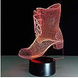 Nachtlicht 3D Schuhe Boot LED USB Nachtlicht Schreibtischlampe Controller Batteriebetriebener...
