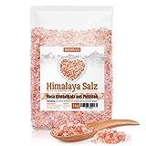 Himalaya Salz – rosa Kristallsalz • 1kg grobes Salz für die Salzmühle • Pink Salt •...