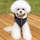 Kevinliu Herbst-Winter-warme Kapuze Haustier-Hund kleidet for Hund Katze Tutu Hundehochzeitskleidung...