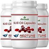 MoriVeda - Krilll Kapseln 270 oder 90, 100% reines NEPTUNE Premium Krill l - Omega 3,6,9...