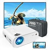 TOPTRO Mini Beamer, WiFi Bluetooth Beamer Projektor, Beamer 7000 Lumen Full HD 120', Support 1080P...