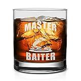 NeeNoNex Master Baiter Whiskeyglas zum Angeln – lustiges Angler-Geschenk