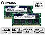 Timetec Hynix IC 16GB Kit (2x8GB) DDR31600MHz PC3-12800 SODIMM Memory Upgrade For Mac (16GB Kit...