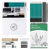 Lemecima Bleistift Set Skizzenbuch Skizzierstifte Set professionelle Stifte zum Zeichnen mit...