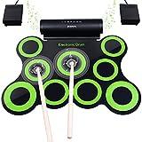 Elektronisches Schlagzeug, Drum Set, BONROB Roll Up Schlagzeug Midi Drum Kit mit Kopfhörer und...
