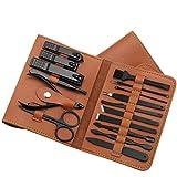 Maniküre Set 16 teile/satz Nagelschneider Set Nagel Clipper Klapptasche Edelstahl Cutter Werkzeug...