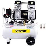 VEVOR Silent Flüsterkompressor 30L Druckluftkompressor 1,5PS/1100W Leise Ölfrei Kompressor...