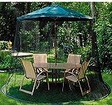 ZMHVOL Outdoor Regenschirm Sonnenschirm Moskitonetz Regenschirm Tabelle Bildschirm -Blak, Geeignet...