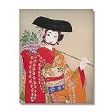 Vintage Kunst Poster leinwanddruck wandbild Retro dekorative malerei Japanische Frauen Dekoration...