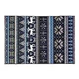WCZ Wohnzimmer Fußmatte Dekoration, Teppich Marmor Bodenmatte Cool Black Retro Style American...