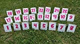 Callieway Agility Parcoursnummern/Rally Obedience Nummern/Zahlen - Set/Nummernschilder -...