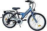 DELTA Kinderfahrrad 20 Zoll Fahrrad Shimano 6 Gang Kettenschaltung StVZO tauglich Blau/Schwarz