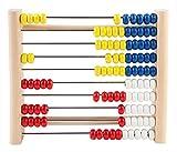 Idena 22066 Zählrahmen aus Kiefernholz, mit 100 farbigen Perlen zum Zählen und Rechnen, ca. 21 x...