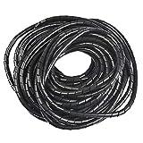 OFNMY Kabelschlauch Spiralband Spiralschlauch 8mm Außendurchmesser, 12 Meter zum Bündeln von...