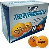 PHIBER-SPORTS Premium Tischtennisbälle 3 Stern [24 Stück] Orange – Perfekte Spieleigenschaften -...