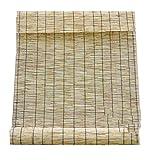 DLHXD Reed Vorhang, Natürliche Schilf Vorhang,Retro Carbonization Bambusrollo,Sonnenschirm...