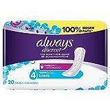 Always Discreet Inkontinenzeinlagen Long (20 Binden) Big Pack, Diskreter Schutz & hohe Saugstärke,...