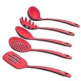 Levivo Silikon Küchenhelfer-Set, 5-teiliges Küchenbesteck-Set, Küchenutensilien bestehend aus...