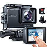 Action Cam Touchscreen, Crosstour CT9700 4K/50FPS Unterwasserkamera Helmkamera (WiFi 20MP...