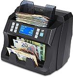 ZZap NC45 Banknotenzähler mit Wertzählung für gemischte Stückelung & Falschgeld-Detektor -...