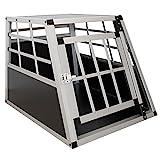Sams Pet Aluminium Hundetransportbox Gre M schwarz/Silber | Alu Auto Transportbox kleine Hunde |...