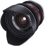 Samyang 12/2,2 Objektiv Video APS-C MFT manueller Fokus Videoobjektiv 0,8 Zahnkranz Gear,...