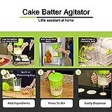 Longspeed Schnelles automatisches Mischen Pancake Maker Express Pfannkuchenteigspender Cupcake...