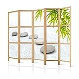 murando - Paravent XXL Spa Zen Orient 225x171 cm - 5-teilig - einseitig - eleganter Sichtschutz -...