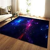 KFEKDT 3D Galaxy Space Stars Teppich Wohnzimmer Dekoration Schlafzimmer Wohnzimmer Couchtisch...