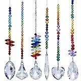 H&D HYALINE & DORA Bunte Kristall Regenbogen Sonnenfänger Hängende Chakra Glas Anhänger für...