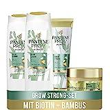 Pantene Pro-V Miracles Haarpflege Set: 2x Grow Strong Shampoo 250 ml + 1x Pflegespülung 160 ml + 1x...