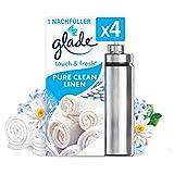 Glade Touch & Fresh (Brise One Touch) Nachfüller, Lufterfrischer Minispray, Pure Clean Linen, 4er...