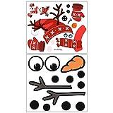 ABOOFAN 2Pcs Weihnachtswandaufkleber Kühlschrankaufkleber PVC Fensteraufkleber (rot schwarz) Party...