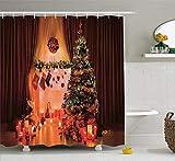 remmber me Bad Duschvorhänge Bad Vorhang Weihnachtskerzen Lichter Strümpfe Geschenkboxen für...