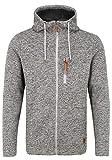 Blend Pinheiro Herren Fleecejacke Sweatjacke Jacke mit Kapuze, Größe:XL, Farbe:Pewter Mix (200277)