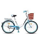 ZZD Lady's Urban Bike, Vintage Bike Classic Fahrrad Retro-Fahrrad, Freizeitfahrrad für Damen und...