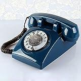 Wjvnbah Schnurgebundene Festnetztelefone Dark Blue Telefon antike europische Retro lndliches Europa...
