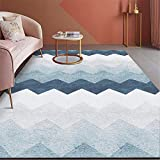 Kunsen Pastell deko Wohnzimmer blau modernen Teppich rutschfesten Anti-Fall Kinderzimmer Teppich...